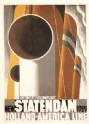 Vintage Ducth shipping poster - Statendam 1929